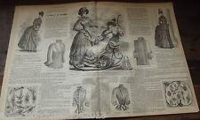 ANCIENNE REVUE LE PETIT ECHO DE LA MODE DE 1888 Nombreuses Gravures n°34