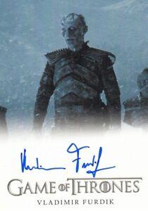 Game of Thrones Season 6 Vladimir Furdik as Night King Auto Card