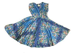 Stunning Lazybones Allegra Dress. Blue Floral. As New, Never Worn. Size XL