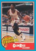 Glen Rice 1990-91 Fleer  Rookie Sensation #3 Miami Heat Basketball Card