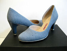 Tsubo Fifee Women Heels Blue Steel Ray US10/UK8.5/EU41