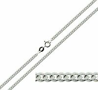 """925 Sterling Silver 16 18 20 22 24 26 28 30"""" Inch 2.5mm Curb Link Chain Necklace"""