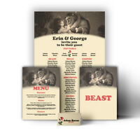 Disney Themed Wedding Table Seating Plan Chart Beauty Beast Canvas Print Poster