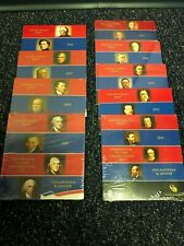Lot of (9) 2007-2015 PRESIDENTIAL $1 (8) COIN UNC. SETS P & D US MINT, 72 Total