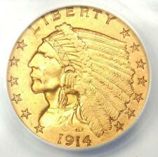 1914-D Indian Gold Quarter Eagle $2.50 Coin - Certified ANACS XF45 (EF45) - Rare