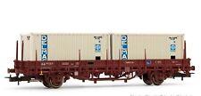 Jouef SNCF Echelle HO Wagon Plat avec 2 Conteneurs Delmas (HJ6175)
