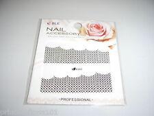 Nail Tip Art stickers water decals transfer Wrap Black Diamond design D342