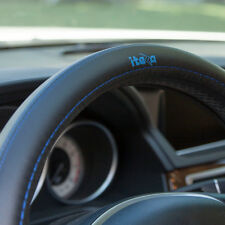 Genuine Leather Steering Wheel Cover It58015 Black Blue 14.75 Diameter Jaguar