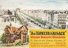 "PARIS grande brasserie alsacienne ""au moulin d'alsace"""