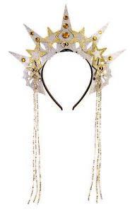 Sterne Kopfschmuck Silber/Gold Tiara Haarreif Kopfbügel Sonne Mond Zubehör Krone