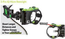 "IQ Micro 3 Pin Sight w/Retina Lock 3 Pin - .019"" Right hand Black"