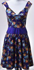 Anthropologie Plenty By Tracy Reese Dress Size 4 purple blue orange floral