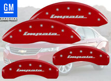 "2010-2013 Chevy ""Impala"" Front + Rear Red MGP Brake Disc Caliper Covers 4pc Set"