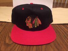 Vintage Chicago Blackhawks Logo AJD Snapback Hat Cap NHL NEW With Tags NOS