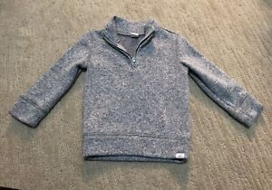 BABY GAP Size 2T Toddler Unisex Gray 1/4 Zip Pullover Sweater