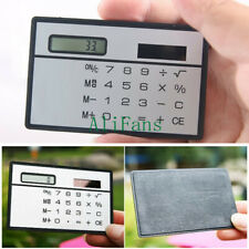 8 Digits Ultra Thin Mini Slim Credit Card Solar Power Pocket Calculator Travel