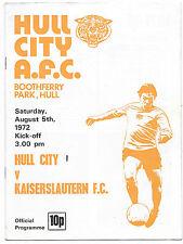 Hull City Teams F-K Football Pre-Season Fixture Programmes