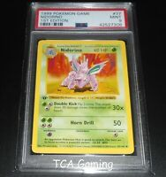 PSA 9 MINT Nidorino 37/102 1ST EDITION Base Set SHADOWLESS Pokemon Card