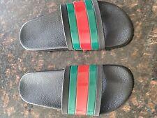 GUCCI Men's Rubber Slide Sandals Flip Flops Size US 9 BLACK