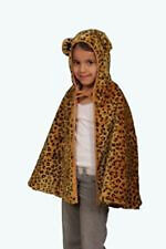 *New* Kids Safari Plush Leopard Cape with Hood and Separate Tail
