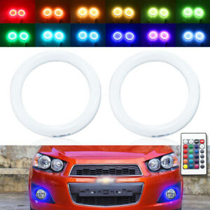 IR RGB LED halo ring for Chevrolet Sonic AVEO T300 fog light 11-14 angel eye DRL