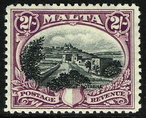 SG 205 MALTA 1930 - 2/- BLACK & PURPLE - MOUNTED MINT