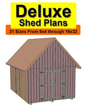 10x12 Deluxe Gable Roof Shed Plans In 31 Sizes From 8x4 To 16x32