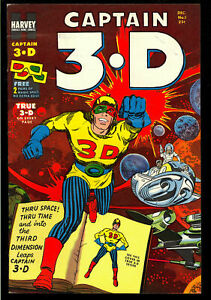 Captain 3-D #1~Harvey Comics~3-D Glasses~1953~~FN-VF~~Jack Kirby~Joe Simon