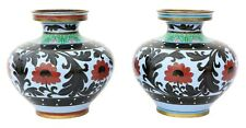 More details for antique large pair of mid-20th century chinese cloisonne vases
