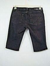 Nollie Womens Girls Jeans Shorts Knee Length Black Size 7 Reg