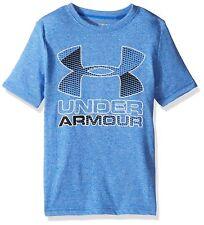 Under Armour Boys Hybrid Big Logo T-Shirt Youth Medium Ultra Blue/Black NWT 6982