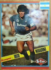 Poster football Diego Maradona FC Napoli Argentina from magazine TEMPO Yug
