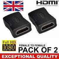 HDMI EXTENDER FEMALE TO FEMALE COUPLER ADAPTER JOINER CONNECTOR for 1080P HDTV