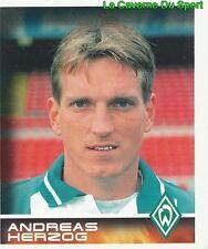 074 ANDREAS HERZOG OSTERREICH SV WERDER BREMEN STICKER BUNDESLIGA 2001 PANINI