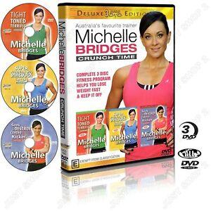 Michelle Bridges Crunch Time : Complete Fitness Program : Brand New 3 DVD Set