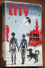 City - Clifford Simak UK 1st/1st 1954 HC/DJ NEAR FINE SCARCE!