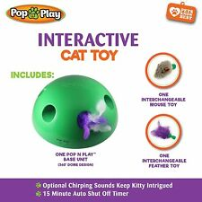 New listing Pop N' Play Interactive Motion Cat Toy, Includes: Electronic Smart Random Moving