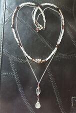 Green Amethyst Labradorite Garnet Bali Sterling Silver Chain Necklace Sundance