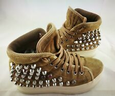 SCARPE SNEAKERS JEFFREY CAMPBELL NR 36 COLOR. BISCOTTO CON BORCHIE