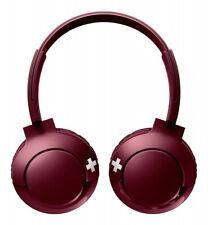 Philips Wireless Headphones Bass + Bluetooth On Ear RED (maroon)
