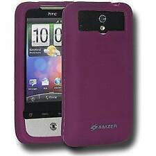 AMZER premium Silicone Skin Soft Jelly Back Case Cover For HTC Legend Purple