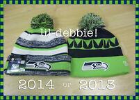 AUTHENTIC Seattle Seahawks 2013 2014 New Era On Field Sideline Beanie Knit Hat