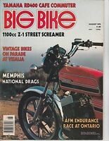 AUG 1976 BIG BIKE vintage motorcycle magazine