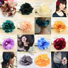 2 pcs/lot Fashion Flower Hair Clip Women Hairpin Brooch Barrette Black Purple