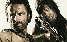 Poster A3 The Walking Dead Rick Grimes Daryl 03