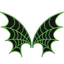 Kreepsville 666 Green and Black Web Wings Patches