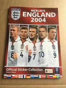 Merlin's England 2004 European Championship Football Sticker Album - Complete