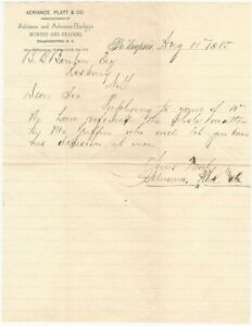 1885 Farm Mowers and Reapers Poughkeepsie New York Agriculture Letterhead