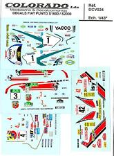 Colorado Decals 1/43 FIAT PUNTO S1600 S2000 4 Racing Versions