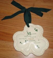Irish Shamrock ceramic Friendship Ornament by Russ